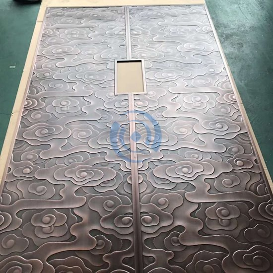 Luxury Antique Metal Engrave Door Decoration