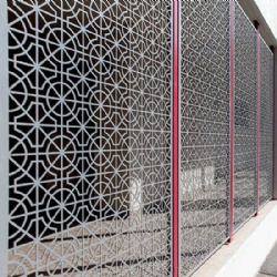 Villa Laser Cut Metal Screen Partition