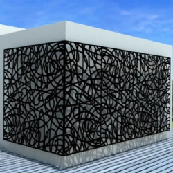 Garden Laser Cut Metal Screen Partition