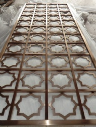 Classic Stainless Steel Laser Cut Screen Partition