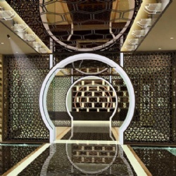 Luxury Hotel Lobby Metal Screen Partition