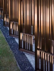 Copper Hairline Stainless Steel Screen