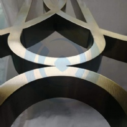 Hairline Bronze Stainless Steel Screen Metal Art
