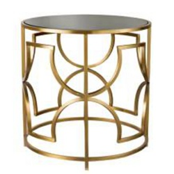 Brass Color Hotel Stainless Steel Side Tables