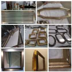 Stainless Steel Mirror Frame Hotel Decoration