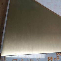 Champagne Gold Hairline Stainless Steel Sheets