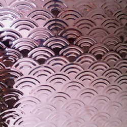 Rainbow Pattern 3D Embossed Stainless Steel Sheet