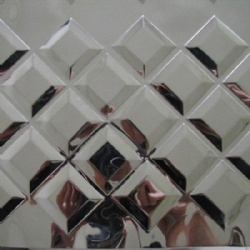Square Pattern 3D Embossed Stainless Steel Sheet