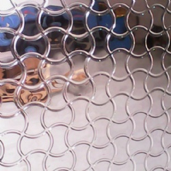 Arc-shaped Pattern 3D Embossed Stainless Steel Sheet